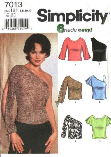 Simplicity Sewing Pattern 7013 Misses Size 14-20 Easy Knit Tops Sleeve Variations