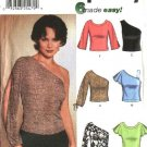Simplicity Sewing Pattern 7013 Misses Size 6-12 Easy Knit Tops Sleeve Variations