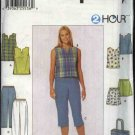 Simplicity Sewing Pattern 7130 Misses Size 6-10 Easy 2 Hour Shorts Cropped Pants Top Totebag