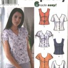 Simplicity Sewing Pattern 7167 Misses Size 4-10 Easy Button Front Summer Blouses Shirts Tops