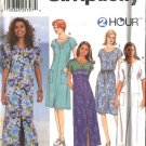 Simplicity Sewing Pattern 7218 Misses Size 6-16 Pullover Long Short Dress Cut-on Short Sleeves