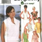 Simplicity Sewing Pattern 7226 Misses Size 6-12 Easy Pullover Summer Tunics Tops Shells