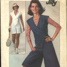 Retro Simplicity Sewing Pattern 7958 Misses Size 14 Jiffy Tennis Outfit Romper Front Wrap Pantdress