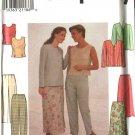 Simplicity Sewing Pattern 7970 Misses Size 10-14 Wardrobe Jacket Top Long Pants Flared Skirt
