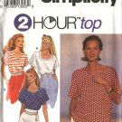 Simplicity Sewing Pattern 8373 Misses Size 6-8-10-12-14-16 Pullover Top Cut on Short Sleeves