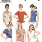 Simplicity Sewing Pattern 8523 Misses Size 14-16-18 Pullover Short Sleeve Sleeveless Tops