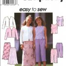 Simplicity Sewing Pattern 8550 Girls Size 12-14-16 Easy Wardrobe Top Pull On Skirt Pants Jacket