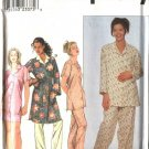Simplicity Sewing Pattern 8905 Misses  Size 6-16  Pajamas Front Wrap Robe Pants Shorts Button Shirt