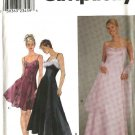 Simplicity Sewing Pattern 8940 Misses Size 6-12 Formal Evening Gown Prom Long Short Dress Wrap