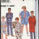 Simplicity Sewing Pattern 8968 Boys Size 7-8-10 Easy Pajamas Robe Shirt Pants Shorts