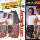"Simplicity Sewing Pattern 9057 Misses Mens Hip Size 29-49"" Pull on Shorts"