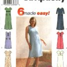 Simplicity Sewing Pattern 9189 Misses Size 14-20 Easy Pullover Long Short Sleeveless Dress