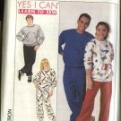 "Simplicity Sewing Pattern 9242 Misses Mens Chest Size 40-42"" Sweatsuit Pullover Sweatshirt Pants"