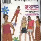 Simplicity Sewing Pattern 9272 Junior size 7/8-15/16 Wardrobe Pants Shorts Skirt Knit Tops Camisole