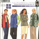 Simplicity Sewing Pattern 9321 Womans Plus Size 18W-24W Hooded  Vest Pants Knit Top Skirt