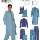 Simplicity Sewing Pattern 9572 Misses Size 4-10 Easy Wardrobe Camisole Jacket Coat Skirt Pants