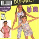 Simplicity Sewing Pattern 9607 Girls Size 7-14 Easy Summer Tops Cropped Pants Skorts Shorts