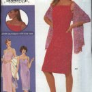Simplicity Sewing Pattern 9617 Misses Sizes 4-10 Straight Summer Long Short Dress Shawl Purse