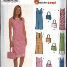 Simplicity Sewing Pattern 9620 Misses Size 6-12 Easy Sleeveless Straight Summer Dress Purse