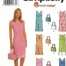 Simplicity Sewing Pattern 9620 Misses Size 14-20 Easy Sleeveless Straight Summer Dress Purse