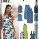 Simplicity Sewing Pattern 9688 Misses Size 6-16 Sundress Summer Halter Dresses Top Long Skirt