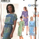 Simplicity Sewing Pattern 9689 Misses Size 8-14 Pullover 2 Hour Straight Dress