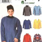 Simplicity Sewing Pattern 9814 Misses Size 18-24 Easy Pullover Long Sleeve Top