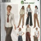Simplicity Sewing Pattern 9826 Misses Size 6-12 Easy Straight Long Wide Leg Pants Gauchos