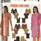 Simplicity Sewing Pattern 9831 Misses Size 6-12 Pullover Tops Fitted Skirts Two-Piece Dress