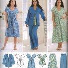 Simplicity Sewing Pattern 2660 Womans Plus Size 20W-28W Wardrobe Dress Top Skirt Pants Jacket