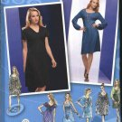 Simplicity Sewing Pattern 2883 Misses Size 14-22 Knit Dress Sleeve Overbodice Variations
