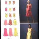 Simplicity Sewing Pattern 2953 Misses Size 16-24 Formal Prom Two Piece Dress Flared Skirt Top