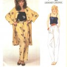 Vogue Sewing Pattern 2875 Misses Size 10  Christian Aujard Pants Camisole Coat Jacket
