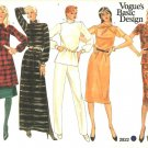 Vogue Sewing Pattern 2822 Misses Size 10 Basic Wardrobe Pants Skirt Straight Dress Top Tunic