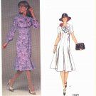 Vogue Sewing Pattern 1421 Misses Size 10 Molyneux Paris Original Long Short Sleeve Dress