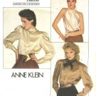 Vogue Sewing Pattern 2856 Misses Size 10 Anne Klein American Designer Long Sleeve Halter Blouse