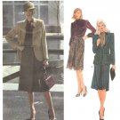 Vogue Sewing Pattern 2550 Misses Size 10 Joseph Picone American Designer Jacket Skirt Blouse Suit
