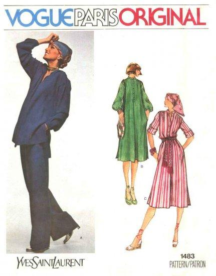 Vogue Sewing Pattern 1483 Misses Size 10 Yves Saint Laurent Paris Original Dress Tunic Pants