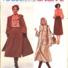 Vogue Sewing Pattern 1989 Misses Size 10 Pierre Balmain Paris Original Hooded Coat Skirt Blouse