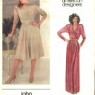 Vogue Sewing Pattern 2712 Misses Size 10 John Anthony American Designer Knit Front Wrap Dress