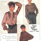 Vogue Sewing Pattern 2063 Misses Size 10 calvin Klein American Designer 3 Classic Blouses Shirt