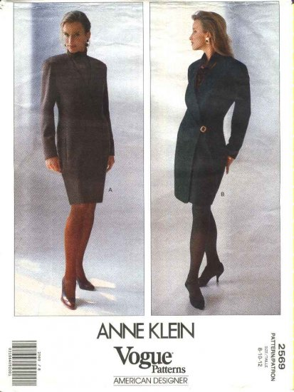 Vogue Sewing Pattern 2569 Misses Size 8-12 Anne Klein American Designer Lined Wrap Dress