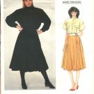 Vogue Sewing Pattern 2854 Misses Size 10 Claude Montana Paris Original Jacket Skirt Shirt Top