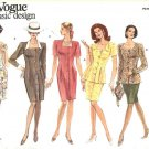 Vogue Sewing Pattern 2857 Misses Size 12-16 Easy Basic Classic Button Front Dress Top Straight Skirt