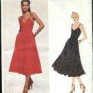 Vogue Sewing Pattern 2122 Misses Size 10 Scott Barrie American Designer Full Skirt Dress Sundress