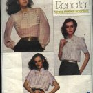Vogue Sewing Pattern 2185 Misses Size 12 Renata French Boutique Three Tucked Blouses Tops