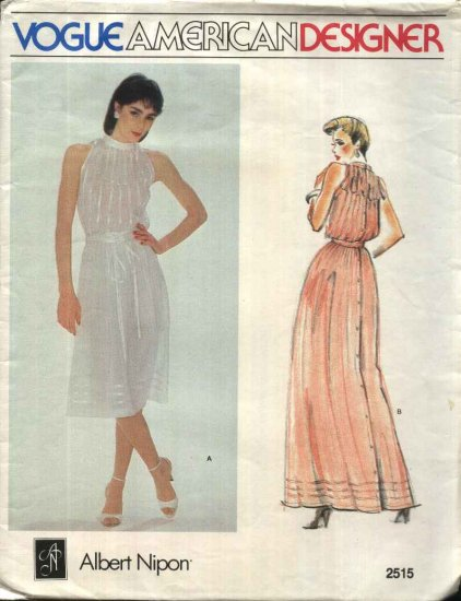 Vogue Sewing Pattern 2515 Misses Size 10 Albert Nipon American Designer Evening Gown Formal Dress