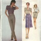 Vogue Sewing Pattern 2520 Misses Size 10 Don Sayres American Designer Shirt Skirt Pants Shorts
