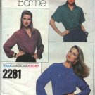 Vogue Sewing Pattern 2281 Misses Size 10 Scott Barrie American Designer Three Blouses Tops
