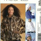 McCall's Sewing Pattern P292 4666 Misses Size 16-22 Fleece Chenille Zipper Front Jackets Hat Mittens